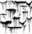 monochrome graffiti pattern for your design vector image vector image