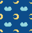 moon and clouds seamless pattern background vector image