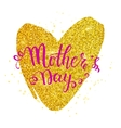 Mother s day card with heart vector image vector image