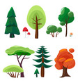 nature elements collection game ui set of plants vector image vector image