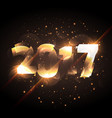 new year 2017 glowing lettering with shiny effect vector image vector image