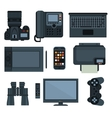Office equipment set of icon vector image vector image
