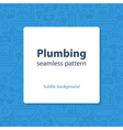 Plumbing services concept backdrop vector image