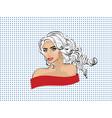 pop art woman portrait vector image