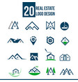 real estate logo template collection vector image