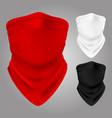 realistic textile balaclavas collection vector image