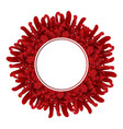 red chrysanthemum flower banner wreath vector image vector image