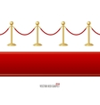 red event carpet and Barrier rope vector image vector image