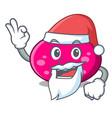 santa ellipse mascot cartoon style vector image vector image