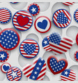 seamless pattern usa symbols vector image
