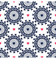 seamless pattern with hand drawn circles and vector image vector image