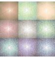 set nine hexagonal colorful backgrounds vector image vector image