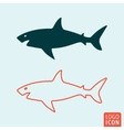 Shark icon isolated vector image