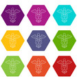 sign medicine icons set 9 vector image vector image