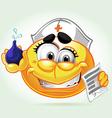 Smile mad nurse vector image vector image