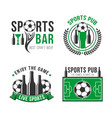 soccer or football sports bar icon vector image vector image