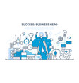 success at work communication leadership vector image
