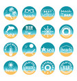 summer beach round icons vector image vector image