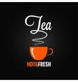 tea cup flavor design background vector image vector image