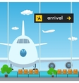 Waiting Room in Airport Scoreboard Arrivals vector image vector image