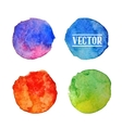 Watercolor circles stains set isolated on white vector image