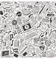 web doodles collection vector image vector image