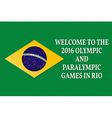 welcome to games 2016 patriotic banner vector image