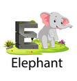 zoo animal alphabet e for elephant vector image vector image