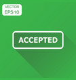 accepted seal stamp icon business concept vector image