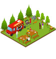 bbq isometric view vector image