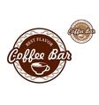 Coffee bar signs vector image
