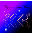 2013 Happy New Year background vector image vector image
