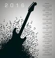 2016 Notes Guitar Calendar vector image vector image