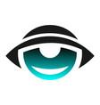 abstract eye logo graphic icon vector image vector image