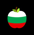 apple bulgaria flag bulgarian national fruit vector image vector image