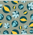autumn leaves in bubbles seamless pattern vector image