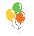 ballons cartoon vector image