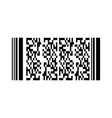 barcode or qr code isolated on a background vector image vector image