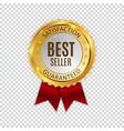 best seller golden shiny label sign vector image vector image
