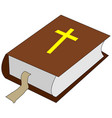 bible concept line icon bible concept outline vector image