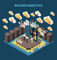 big data analytics composition vector image vector image