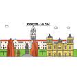 bolivia la paz outline skyline bolivian flat