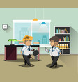 businessmans in office vector image vector image