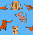 cartoon wallpaper with dogs vector image vector image