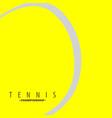 close up tennis ball vector image