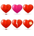 Collection of glossy hearts vector | Price: 1 Credit (USD $1)