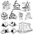 Collection of home apartments vector image