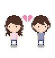 couple breaking up icon pixel 8 bit style vector image