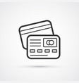 credit card flat line trendy icon eps10 vector image