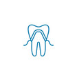 dental implant linear icon concept dental implant vector image vector image
